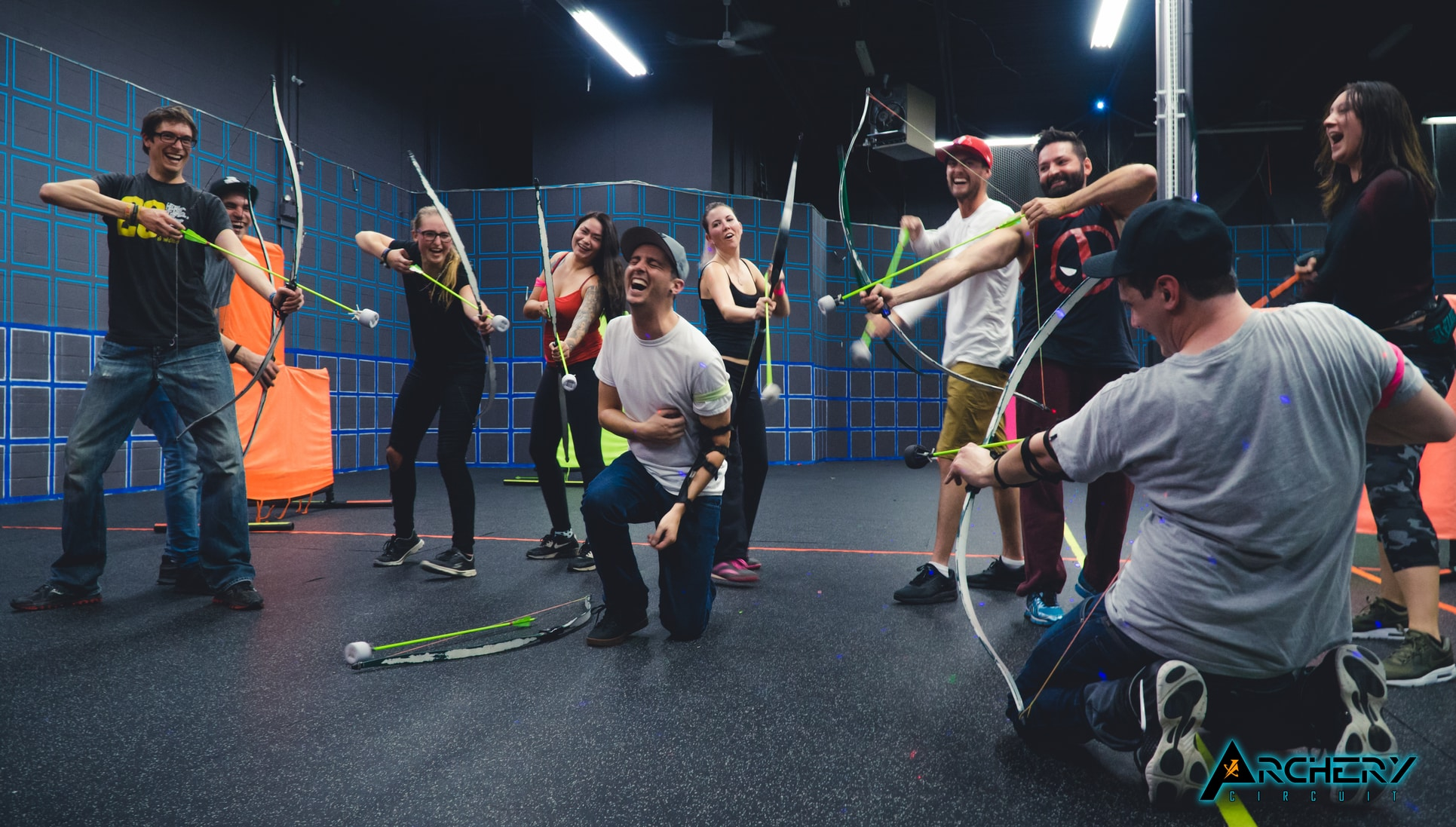 adult archery tag birthday party