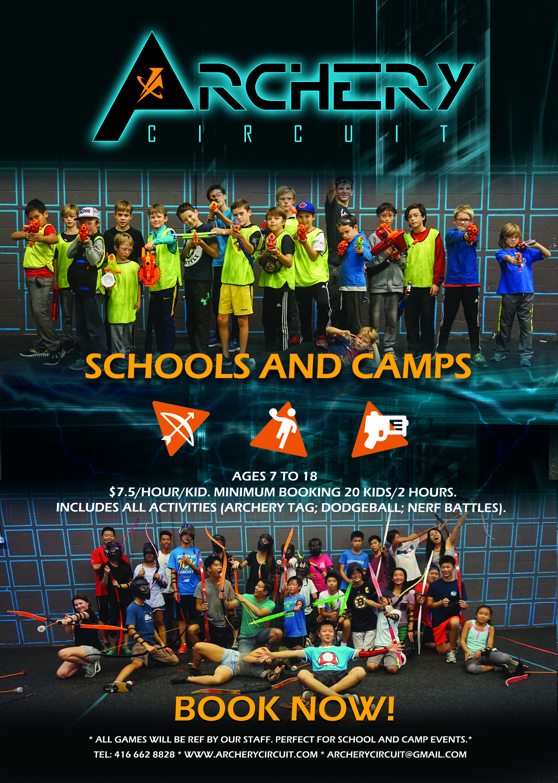 school and camp 7-18